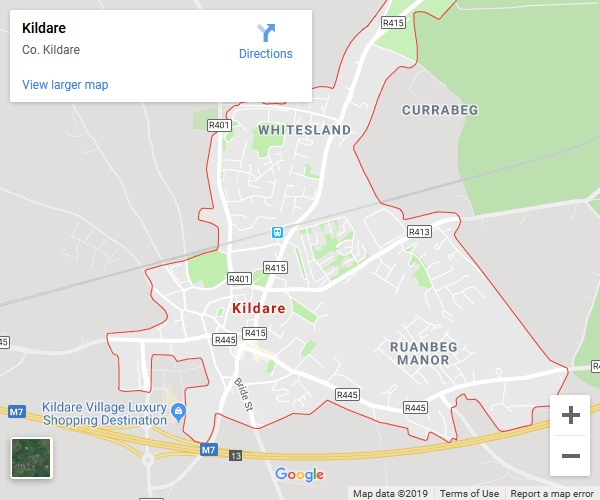 Kildare Google Map
